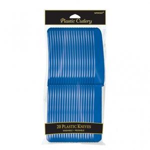 Mörkblå plastknivar - 20 st