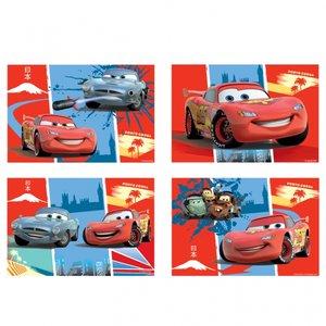 Disney bilar - pussel 4 st