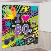 80-tals bakgrund - väggdekorationskit