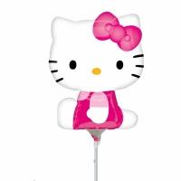 Hello Kitty folieballong på pinne - 23 cm