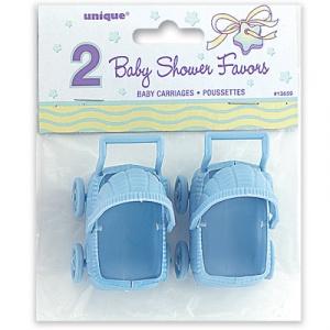 Blå barnvagn - 2 st