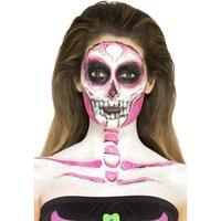 Flytande latex Sminkset - Skelett Neon