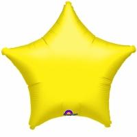 Gul stjärnformad folieballong - 48 cm
