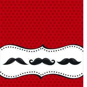 """Bordsduk av plast """"Moustache Madness"""" - 137 x 274 cm"""