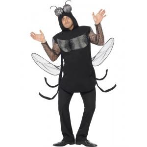 Fluga maskeraddräkt svart - Medium
