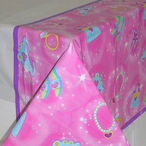 Prinsessparty rosa bordsduk i plast