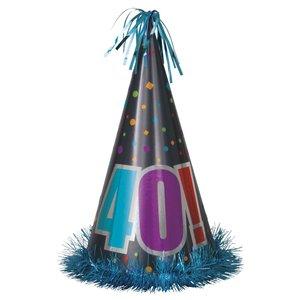 Jumbo partyhatt - 40!