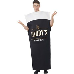 Paddy's Draught Costume Black &amp  White Printed Tabard
