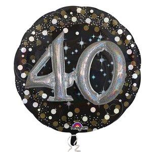 Folieballong - Sparkling Birthday 40