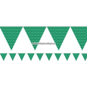 Grönprickiga vimplar - papper 1.7m