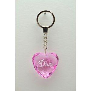 Diamant nyckelring - Diva