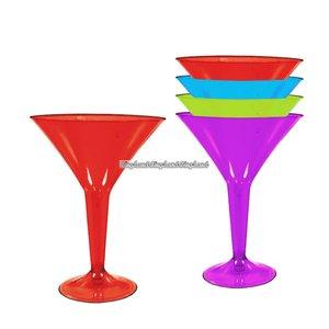 Martiniglas i plast och flera färger 227 ml - 20 st