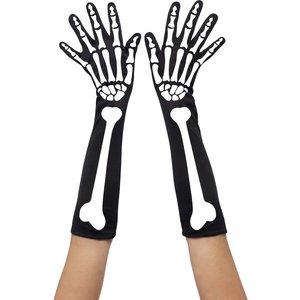 Handskar skelett tryck