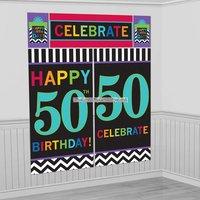 50-års födelsedag inbjudningskort - 8 st