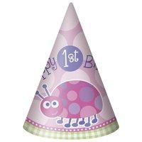 Partyhattar - Nyckelpiga 1-års födelsedag - 8 st