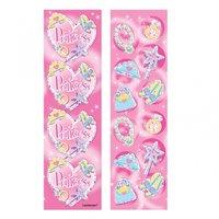 Färgglada prinsess- stickers - 8 st