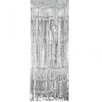 Silverfärgat dörrdraperi - 2.4 m