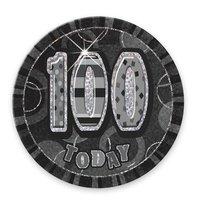 100-års födelsedagsemblem - svart 6