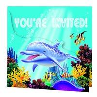 Ocean Party inbjudningskort - 8 st