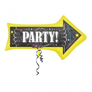 Folieballong - Chalkboard Bday Arrow