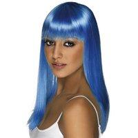Peruk Glamourama - neonblå