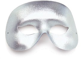 Domino silvercocktail maskeradmask