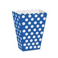 Blå prickiga popcornbägare - 8 st
