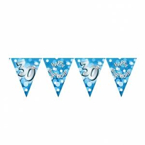 Vimpelbanderoll ljusblå för 30-årsdagen - 4m