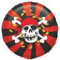 Folieballong - Jolly Roger 45 cm