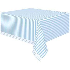 Randig bordsduk - Blått &amp  vit