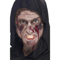 Skada - blodigt ansiktssår