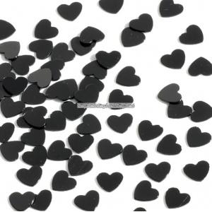 Bordskonfetti små svarta hjärtan - 14 g