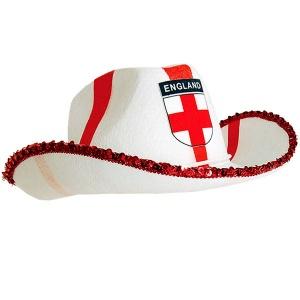 Cowboyhatt med engelska flaggan