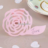 Frills & spills rosa placeringskort - 10 st