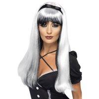 Förtrollande peruk - Silver över svart