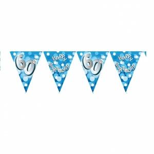 Vimpelbanderoll ljusblå för 60-årsdagen - 4m
