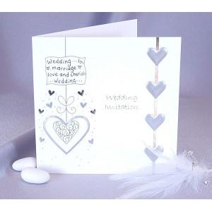 Inbjudningskort till bröllopet - 5 st