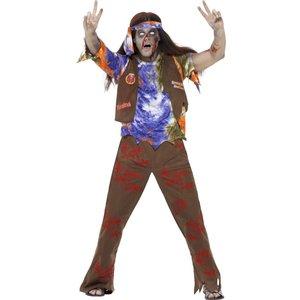 Zombie 60-tals hippie maskeraddräkt