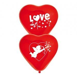 Latexballonger - Valentin 10-pack