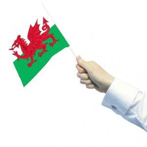 Wales handflagga 15x 22 cm - 12 st