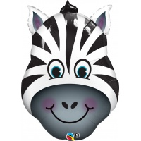 Zebraformad flerfärgad folieballong - 81 cm
