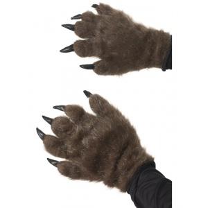 Håriga monsterhandskar - brun
