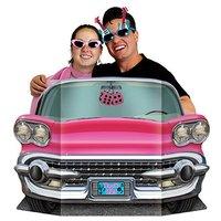 Rosa cabriolet fotoförgrund - 64cm