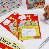 Dear zoo inbjudningskort - 10 st