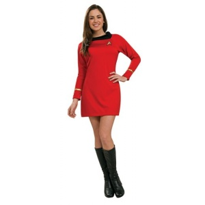 Deluxe klassisk Star Trek klänning röd