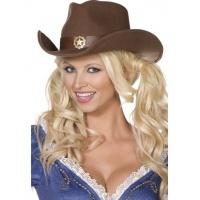 Vilda västern ladys cowgirlhatt