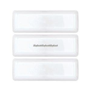 Liten vit rektangulär bricka i plast 19 cm - 10 st