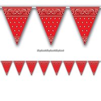Bandana banderoll med vimplar - 3,7 m