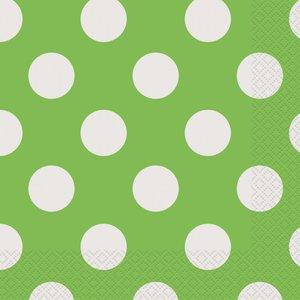 Gröna prickiga servetter - 2-lagers - 16 st