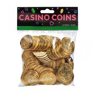 Casino guld plastmynt - 144 st